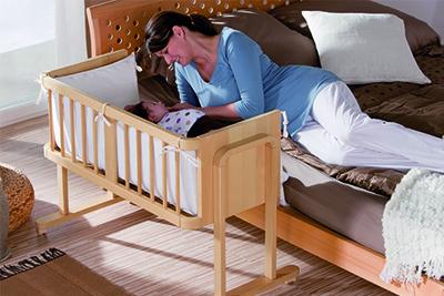 Geuther Beistellbett – Seite an Seite mit dem Baby