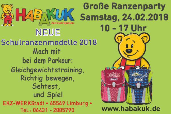 Ranzenparty 2018 im HABAKUK in der WERKStadt Limburg