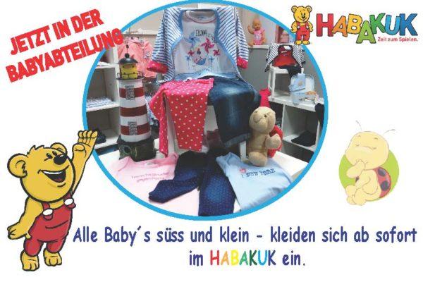 Neu in der Babyabteilung im HABAKUK Hachenburg