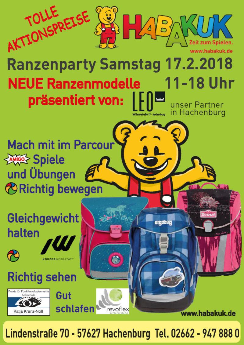 Flyer-Ranzenparty 2018 Hachenburg
