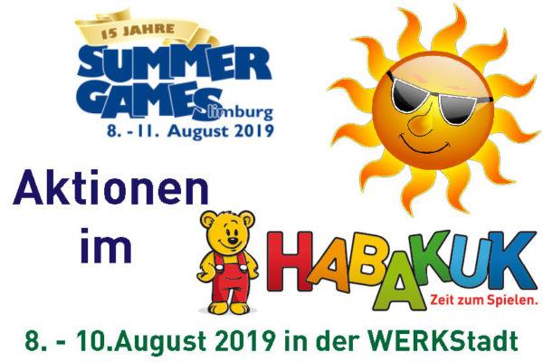 Aktionen zur Summer Games im HABAKUK Limburg